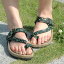 1,111 Units sold out! Thumb harnesses a cute linen material comfort sandals! Cute Sandals studded flower post was there to lovely pettanko quickly put it at pettanko Sandals ◆ フラワープリント jute Sandals cross straps type