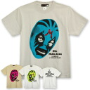 A cool face covering up a face with a certain unit-related colorful mask is cool! Impact Tee ◆ mil mascara ska ruffle mask T-shirt '08 when a face of mask wrestler MIL MASCARAS was printed realistically