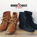 Classic ハンドメイドモカシン famous shoe brands MINNETONKA lace-up フリンジレースアップモカシンショートブーツ / suede / real laser / folklore / pettanko pettanko shoe / spring boots ◆ MINNETONKA ( Minnetonka ): トランパーアンクルハイ boots
