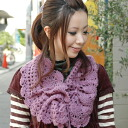 It is young lady-style in anyone simply! The leading role accessory ◆ Victoria shawl neck warmer which is stylish even if I gather even if the neck warmer of acrylic material directing a woman having a gentle key knitting knit such as the race does it on