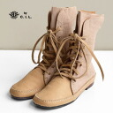 -Long-a simple high-cut boots can be used! Handmade genuine leather boots wear comfortable elegance, soft goat leather with Buffalo leather lace-up standard collaboration from the IEL has appeared / spring boots ◆ C.I.L.:Trip zipper short boots