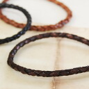 Knit shine leather bracelet. Present a great accessories ◆ leather bracelet [smart cowboy]