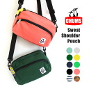 Ever flexible CHUMS shoulder bag! Shoulder Pouch Sweat into paperback books / also diagonally over the Pochette/ビッグポーチ/travel pouch/outdoors/mens/Womens / polka dot ◆ CHUMS ( chums ): Swat shoulder pouch
