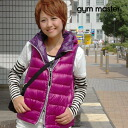 The down vest that lining of the accent color has a big impact! Color & unisex outer /fs3gm ◆ gym master where the hooded down of the thin material is abundant: Light weight reversible down food is the best