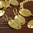 """The alphabet carved antique gold plate slightly secret ciphers ♪ enjoying the original axe and charm making in the alphabet of the popular brand """"jitter"""" S-shaped hooks with charm ◆ Jitta: アルファベットプレートチャーム"""