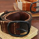 ● ● use handmade belts increase the depth so narrow! Jammed tightly sticking to オーソー leather x thick wool adult casual and is perfect for belt buckle part of original persistence in tannin leather belt ◆ ooso: レザーウール plain belts [widescreen]