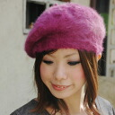 The hat of the fur material which was pretty, or was made in ♪ beret original simple form carefully is kind to the season that is cold in a beret light such as Angola; put it on, and is 深 for a feeling, or try to be you, and is OK; the arrangement charac
