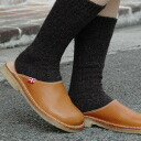 ●●The slip-ons which feature vegetable tanning leather! Of the duck form only by duck feet (DANSKE/ ダンスク) and the flexible rubber sole wear; is なぺたんこ real leather sandals ◆ Duckfeet a feeling easily: Standard leather slip-ons