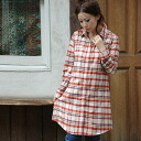 ◆ triple check flannel shirt-dress sure to get the width of coordinates opening because I have the eyes of all with bold checked pattern treated by one side and put on the flannel shirt dress of the ♪ warm material in one piece and can use it for a thing