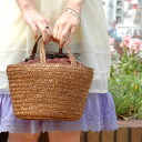 I go out and want to get it! Colon and until I Rui form a cute look too light and durable straw bag cool ♪ bucket of natural colour bag DrawString type can't see inside cover, shopping with peace of mind ◆ ネイバーストローカゴ bag