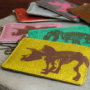 "The card case of the dinosaur print of ""tyrannosaurus"" and ""the triceratops"" which jumped out of an illustrated book! Pass case ◆ FLAPPER (flapper) where is most suitable for a pass holder of commuting, the attending school that the s"