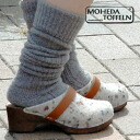 --Natural material grade manufactured the warmth is カラフルネップ サボサンダル! A loveable round shape Sabot Sandals natural denim wood is an impressive ナチュラルスリッポン ◆ MOHEDA TOFFELN ( モヘダトフェール ): ネップウールフェルトサボ sandals