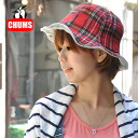 The reversible tulip hat which can enjoy the checked pattern of familiar CHUMS in booby birds! For season UV measures all in a thin sweat shirt material! There is little feeling of clamping; is light; is fogged; 2WAY hat ◆ CHUMS (Kiamusze) of the feeling