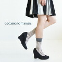The fashionable feet ‥ ‥ cute feeling rough handwriting of an irregular line is an attractive short-length socks! Stylish stripe design socks and sheer put it all season socks ◆ cocomono mamani ( ココモノママニ ): たてせん short socks