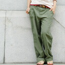 ●●The front of the pride is button fried food specifications! The appearance of the hemp blend work pants which a bit big silhouette which is men's like can dress well coolly! Rough long shot underwear ◆ bit blue (bit blue) of the slow atmosphere that na