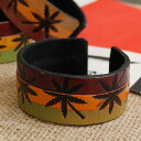 The hemp mark that equalled a raster color is the real leather bracelet of the big impact! ♪◆ raster hemp leather bangle [6] which is glad that the design which it is with a wire, and is cool is unisex and is usable