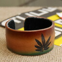 A hemp mark is the raster color leather bangle of the big impact! Entering feeling of ethnic drifting vintage style wire leather bracelet ◆ raster hemp leather bangle [1] of the unisex leather accessories ♪ real leather specifications that are good in a
