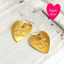 Slightly awkward heart-shaped cute gold plate hook pierced earrings! Ear accessories ◆ Lara & Heart (LARA and heart) where the presence is excellent though it is simple in a smallish motif: Heart plate pierced earrings