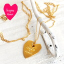 The simple long pendant which LOGO was engraved into to a small heart plate! With the heart chain that a modest design is cute gold accessories /fs3gm ◆ Lara & Heart (LARA and heart) of the prettiness perfect score: Heart plate long necklace