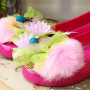 Cute arrange your favorite shoes! Cute fluffy fur combination shoe charm with authentic-looking bird motif coordinated cute pumps ◆ FLAPPER ( flapper ): bird key's shoe clips