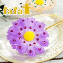 Draped in sparkly Swarovski Crystal retro, POP flower hairpin! Flower motif x I can makeover girly style ornate with gold pins hair accessories Flower HairPin ◆ fafa ( fe'ee ) :Evve Flower hairpin [purple]
