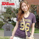 Consider and expressed with a combination of print vintage unisex short sleeve logo tee! Use the outstanding comfort of USA cotton! Cool numbering and hand dying men's & women's short sleeve sewn ◆ WILSON (Wilson) :ILLINOIS 96 T shirt