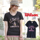 Unisex short-sleeved logo print tee which exerts presence by a real vintage-like print! Men's & Lady's T-shirt ◆ WILSON (Wilson) which can challenge the style that an adult is casual with tender heathered cloth softly: SCOUTS OF AMERICA T-shirt