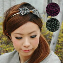 Refined and individual real feather りぼんの Katyusha! Hair arrangement simply gorgeous the feather of the pop dot pattern with hair accessories of the one point! /fs3gm ◆ dot feather ribbon Katyusha recommended in the second party and the party scene of the