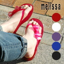 Melissa rubber shoes perfect for Beach sandals! Tong a really cute big Ribbon type fruity scented pettanko pettanko vinyl shoes ◆ melissa (Melissa officinalis): リボントング Sandals [CUTE]