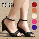 ● ● melissa ankle belt with ラバーシューズマーメイド/high heels/vinyl オープントゥウェッジソール pumps ◆ melissa (Melissa officinalis): アンクルストラップメッシュ rubber sandals the MERMAID]