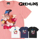 ギズモ crashing with a guitar is cute! Nostalgic, colorful ROCK illustration print short sleeves Tee! SF film GREMLINS cotton T-shirt ◆ gremlins guitar crash T-shirt of the feeling of vintage perfect score which the texture such as old clothes and a pop ill