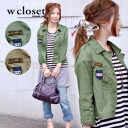 M-65 jacket for girls ♪ balance of masculine design and sizing a girly exquisite / busboy / felt badges with washed jacket ◆ w closet ( ダブルクローゼット ):U.S.ARMY seven minutes blouson sleeve military shirt