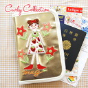 The glitter travel holder of the Carly girls Meg embroidery emblem! In a maternity record book and a bankbook, a trip for a passport and ticket rearranging documents porch ◆ Curly Collection (Carly collection) of the outstanding performance: Glitter seri