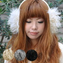 Hearty boldly decorated with more fluffy and say may be matted (laughs) Warby fluffy ウールモヘア イヤーマフラー/I v/adjustable / come on BOA / cold weather accessories / earpieces / ear / folklore ◆ モンゴリアンファー ear muff