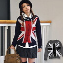 By a bold national flag print de-; is simple! Personality group item / long sleeves ◆ Union Jack knit cardigan to play an active part for the round neckline ◎ preppy coordinates like the girl though it is the British style ◎ lock & traditional fashio