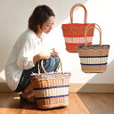 Product made in different fabrics MIX basket BAG ♪ / lunch bag / Purchas bag / basket / Eco bag / miscellaneous goods / accessory / basket / brief case / shopping / vinyl / shopping bag / tote bag / natural / bag ◆ Nattu in Wiebe rattan basket bag of the
