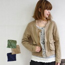 The military shortstop jacket ◎ Cutch re-cotton canvas ground that I do not do too much where a stitch and a change of the entire surface are impressive! Casual long sleeves jacket ◆ military wash canvas flapped pocket no-collar blouson to be able to dre