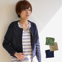 The military shortstop jacket ◎ Cutch re-cotton canvas place which I do not hold too much of the impression that front tuck grew up! Casual long sleeves jacket ◆ military wash canvas pin-tuck no-collar blouson to be able to dress well at compact size wom