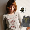 Mix-and-match must-have item / badge / broach / American casual / college ◆ KANSAS wolf slab Ron Tee of the daily that an atmosphere changes by the casual clothes long sleeves T-shirt ♪ inner who can fully enjoy a feeling of slab and the translucency tha