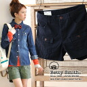 Front flap pocket in more shorts-length clean silhouette with a greater sense of work ♪ faded distressed style 89957172 fabric even boasts ◎ / cotton 100% / ladies ◆ Betty Smith ( bettismith ): ライトワークミリタリーカーゴ shorts