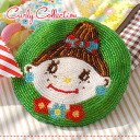 "Handmade product perfectly round mini porch / floret pattern / round shape / fastener type / wallet / coin purse / green / green ◆ Curly Collection (Carly collection) of all beads coin case ♪ palm size of the extreme popularity Carly girls ""EVI :&qu"
