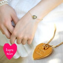 Lara & Hart logo on a strained heart nonchalantly on the wrist! Delicate and feminine delicate gold-colored Bracelet! In a partial heart chain cuteness scale ◆ Lara &Heart (ララアンド heart): heart plate bracelet