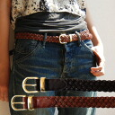It is this thickness that the first that it is too thin, and is not too bold is usable! The basic fake leather braided belt that one wants to last! The longish slim belt / synthetic leather / 合皮 ◆ Andy mesh belt which is usable for waist marking and brow