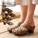 I take it off and wear it and type brief slip-ons. Handmade sabot / Wood sole clog sandals / real leather / Wood heel ◆ MOHEDA TOFFELN (モヘダトフェール) which a Swedish craftsman makes: Leather mesh Wood sabot sandals [slip-ons]