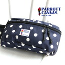 Only a small tag version! A cool pattern! Import BAG stuck to production with high-quality canvas materials Made In the USA. Both men and women can have unisex hip bag /BB11-01 / polka ◆ PARROTT CANVAS (Parrot tarp) FANNY PACK the POLKA DOTS.