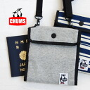 The sweat shirt mini bag which it is convenient for valuables rearranging of a passport and tickets, and becomes the substitute for wallet! ♪ / security case / pass case ◆ CHUMS (Kiamusze) reliable as for diagonal credit in being a made flat pochette eve