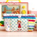 """みずたま pattern DS case ♪ fringe tape embroidery handmade porch / ピピ / waterdrop / horizontal stripe ◆ Curly Collection (Carly collection) with emblem of the Curly Family """"PIPI which is an Indian :"""" Mixture fabric DS porch [ivory place dot X India"""