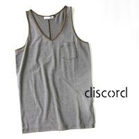 discord(ディスコード)TENCELBORDERV-NECKTANKTOP