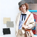 It is sleeve / haori / Lady's / shortstop length / short length / knitwear ◆ ルデアケーブルニットカーディガン for short cardigan ♪ / wool blend / gown style / incompleteness sleeve of double button / three-quarter sleeves /7 that a big cable stitch is impressive