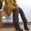 ブラウンタータン Plaid winter color scheme was pretty ♪ designed simple, affordable became full length stretch pants and slender and 10 minutes length and enough length / パギンス / レギパン ◆ Betty Smith Betty ( Smith ): ライトワークブラウニーチェックレギンス pants
